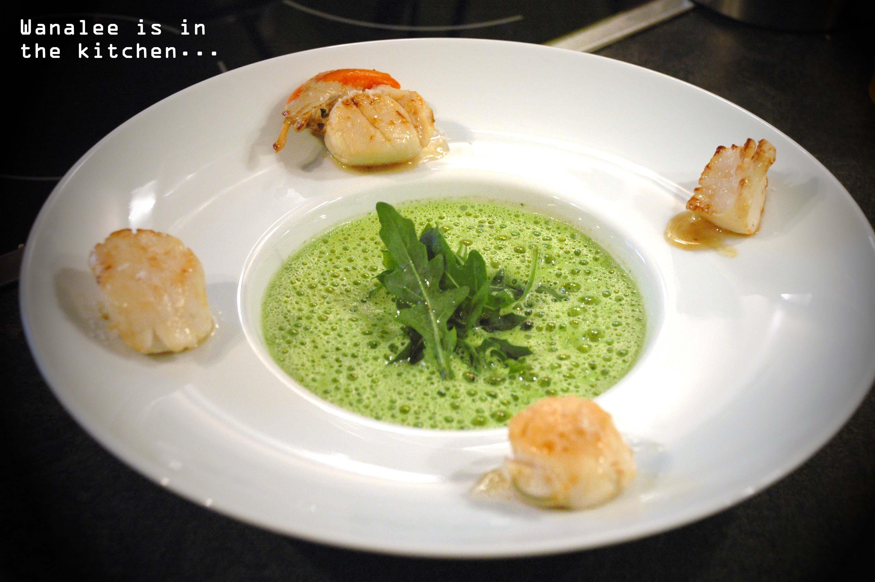 Mulsion de roquette wanalee cuisine - Faire une emulsion en cuisine ...