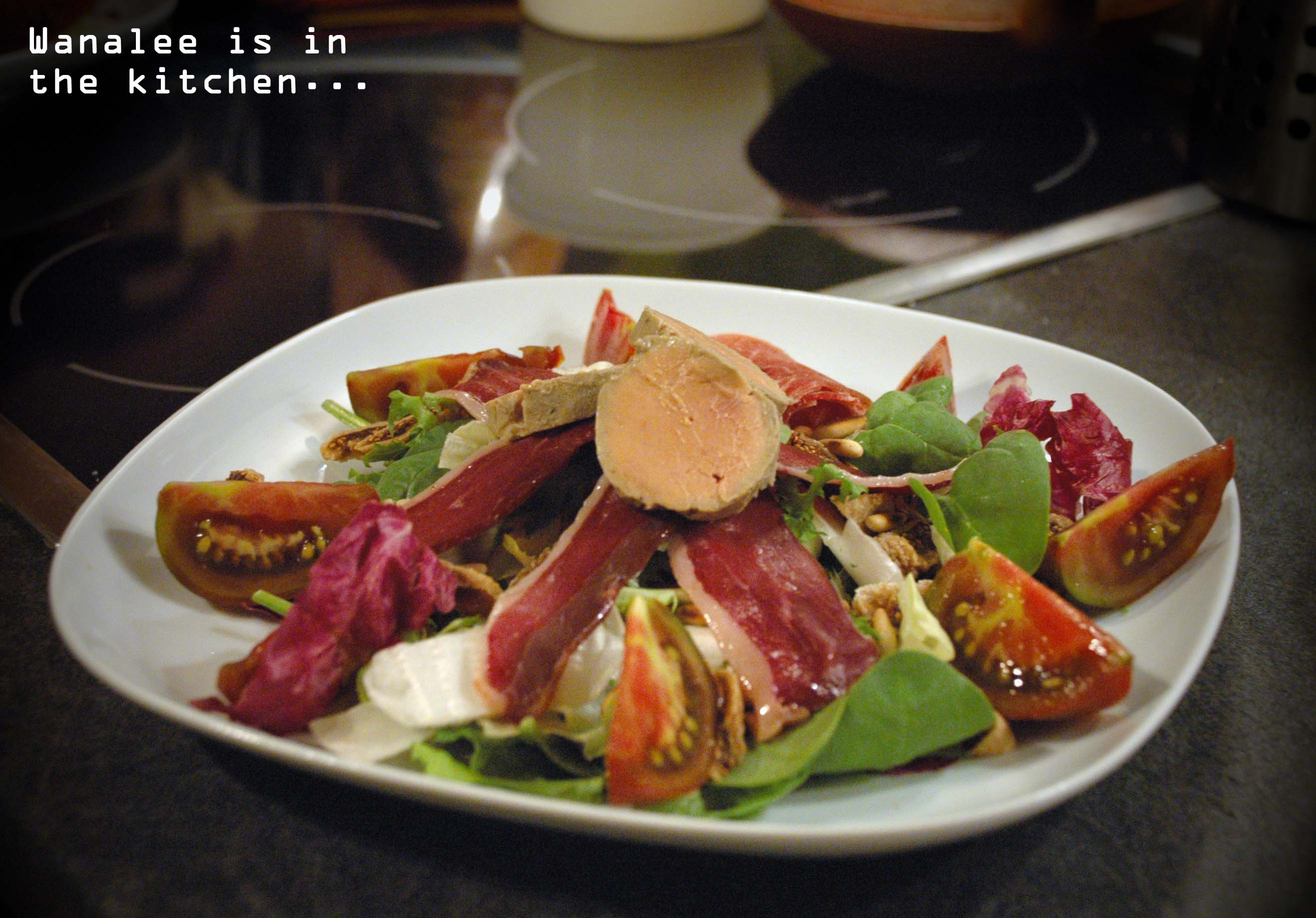Salade p rigourdine wanalee cuisine - Dosage sel et poivre pour foie gras ...