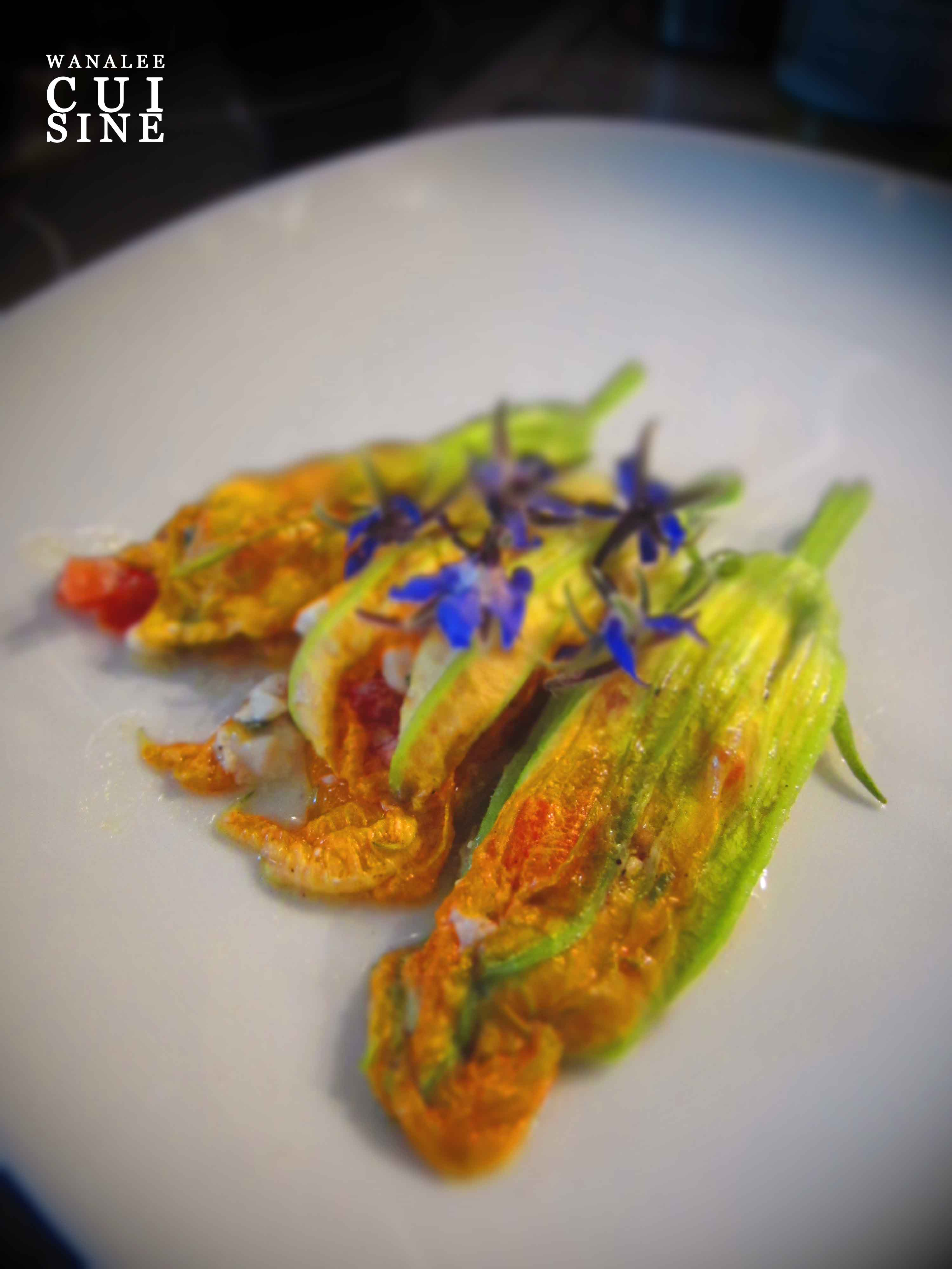 Fleurs de courgettes farcies la proven ale wanalee cuisine - Fleurs de courgettes farcies ...