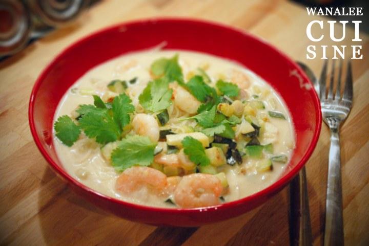 Soupe crevettes bouillon coco