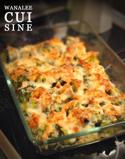 Gratin saumon brocoli