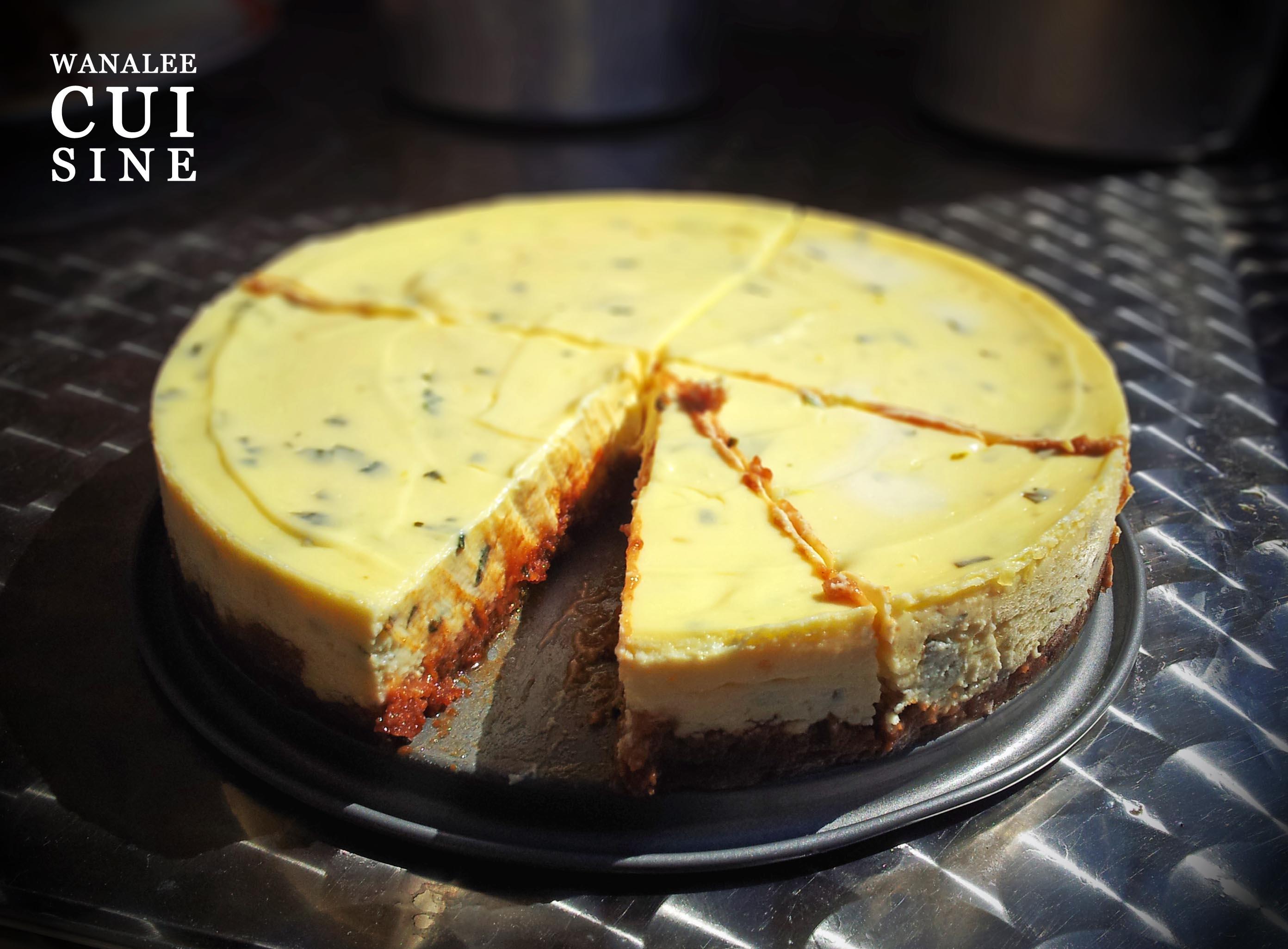Cheesecake basilic