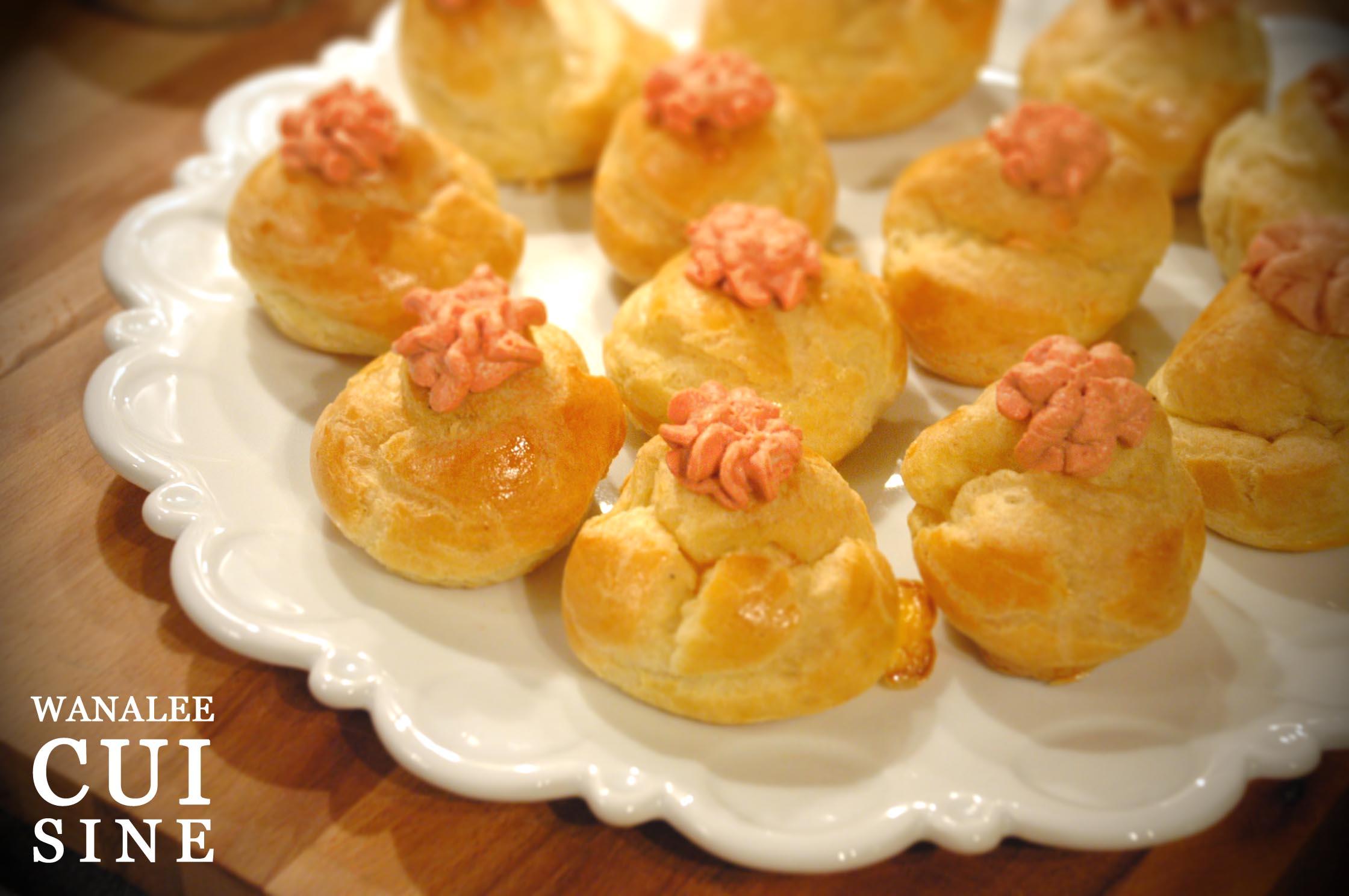 Petits choux au saumon fum wanalee cuisine for Hors d oeuvre avec saumon fume