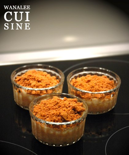 Crumble rhubarbe spéculoos