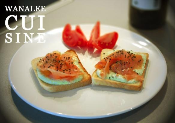 Toast saumon wasabi