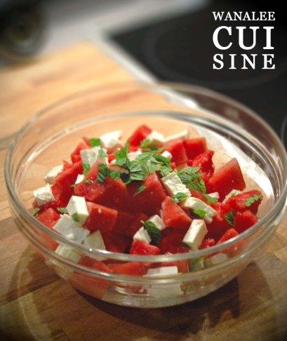 Salade pasteque feta