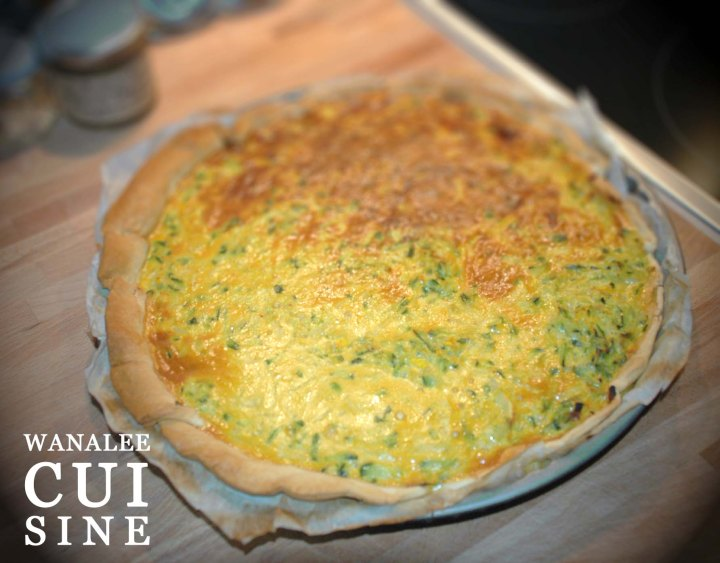 Tarte courgette coco curry