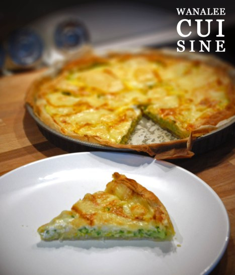 Tarte courgettes tomme bagne