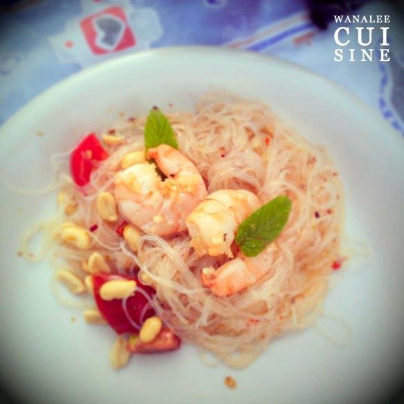 Salade vermicelles crevettes