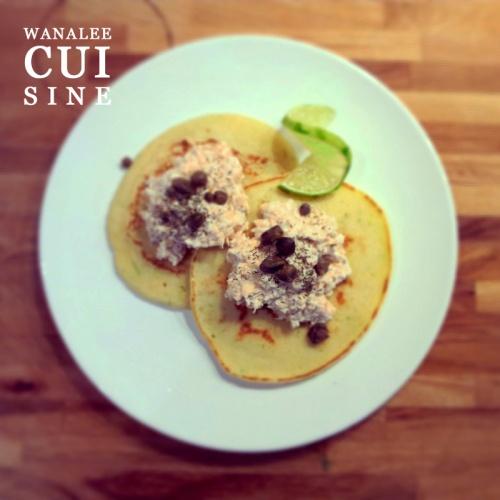Pancakes citron vert et rillettes saumon