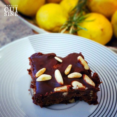 Brownies pignons citron