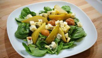 Salade épinards poires fourme d'ambert