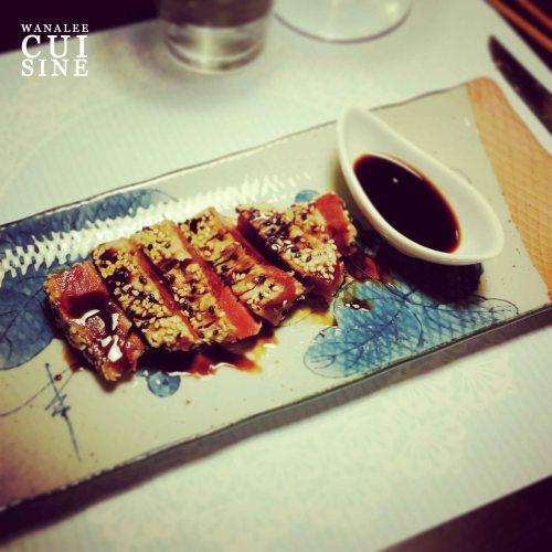 Tataki de thon en croûte de sésame