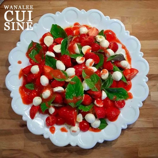 Tomates mozzarella et fraises
