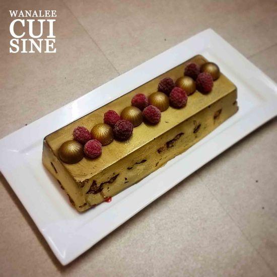 Buche sans cuisson chocolat framboise