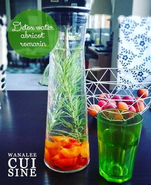 detox water abricot romarin